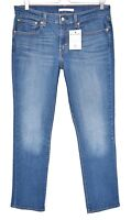 Womens Levis 414 RELAXED STRAIGHT Blue Mid Rise Stretch Jeans Size 12 W30 L32