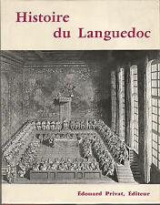 Histoire du Languedoc Edition originale numérotée sur vélin de Montfourat.
