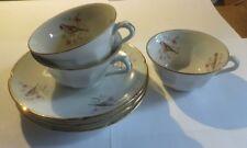 3 tasses et sous tasse en porcelaine véritable « Pâtes et émaux de Limoges –fabr