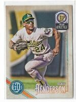 2018 Topps Gypsy Queen Baseball Legend SP high number #317 Rickey Henderson
