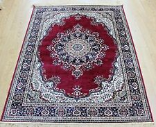RED Traditional Persian Medallion Oriental Silk Like Rug S M  XL Size NOW 30%OF
