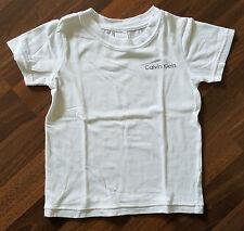 T-Shirt CALVIN KLEIN Kinder Gr 4/5 Mädchen Jungen Unisex weiss Sommer wie NEU
