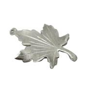 Vintage 925 Sterling Silver Curved Maple Leaf Bracelet Charm Travel Canada