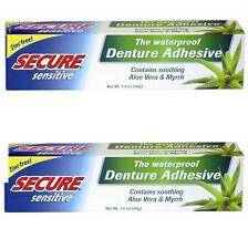 Secure Sensitive Denture Adhesive, 1.4 oz (Paks of 2)