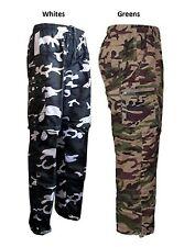 Mens Combat CAMO Zip Off  Summer Trousers Cargo work Pant Trouser