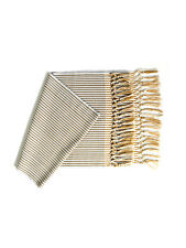 HAND LOOMED COTTON WOVEN RUNNER BEIGE STRIPES - VIASOUTH
