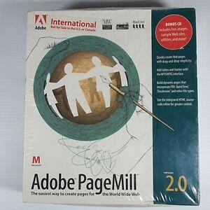 Vintage 1997 SEALED ADOBE PAGEMILL 2.0 Full PC Big Box Mac OS Software