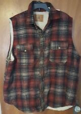VINTAGE AMERICAN EAGLE  AE  Men's Vest Quilted Plaid XXL lumberjack