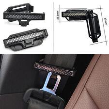 SEAT BELT CLIPS SUV Car Truck Safty Belt Tension Adjuster Universal Carbon Look