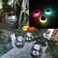 Decorative Rainbow Flash Solar Floating Lights Waterproof RGB Lamp for Home Pool