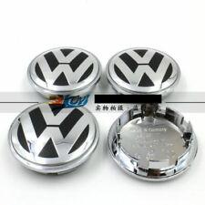 NEW SET OF 4 CENTER WHEEL COVER CAPS LOGO FOR  VW VOLKSWAGEN CHROME 3B7601171