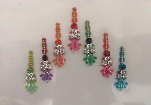 MULTI COLOUR Indian DIAMANTE Bridal FESTIVAL Crystal TIKKA Bindi