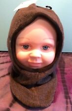 Doux Chaud Polaire Bébé Balaclava Gris 6 9 12 24 mois BNWT chapeau d'hiver oreilles cou