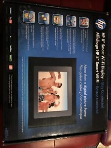 """hp 8"""" smart wifi display SD828A1 Digital Picture Frame New In Box Not Tested"""