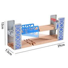 Juguete de madera de dos pisos Bridge Overpass Hazlo tú mismo Pista De Tren Ferrocarril escena creativo