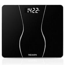 Smart Digital Body Weight Bathroom Scale with Backlit Shine Black