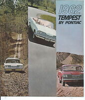 NP-033 1962 Tempest by Pontiac, Original Sales Brochure, Illustrated in Color