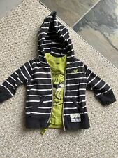 Baby Boy 3 Months Carters Hoody Tee Shirt Striped Wolf Hardly Worn