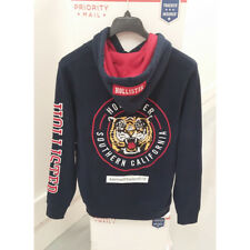 cb041b1b HOLLISTER MENS EMBROIDERED TIGER GRAPHIC HOODIE SWEATSHIRTS NAVY SIZE LARGE