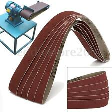 5 Pack 25x760mm 240# Grit Premium Sanding Belts Paper For Metal Wood Working New