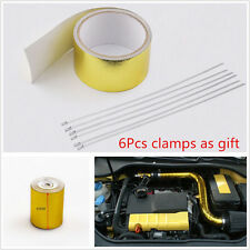 "DIY 2""X200"" 1200°f Golden Car Truck High Temperature Heat Shield Wrap Tape Roll"