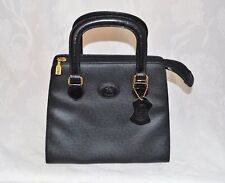 LUIGI Real Textured Leather Classic Style Rigid Hand Bag Gold Hardware BNWOT
