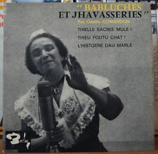 "ODETTE COMANDON ""BABLUCHES ET JHAVASSERIES"" FRENCH EP BARCLAY"