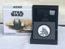 2021 Niue Star Wars Mandalorian 1 oz Colorized Silver Proof Coin-1st In Series