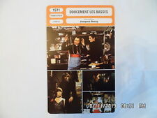 CARTE FICHE CINEMA 1971 DOUCEMENT LES BASSES Nathalie Alain Delon Paul Meurisse