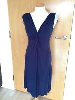 Ladies M&S Indigo/Plum Dress Size 8 Soft Stretch Jersey