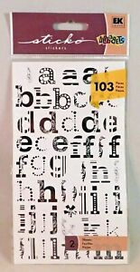 Alphabet Scrapbook Stickers Letters Numbers Symbols Stone Leather Metal Colors