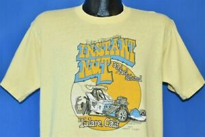 vtg 70s INSTANT NUT '79 FORD 23 MODEL T TULARE CA DRAG RACE AA ALTERED t-shirt L