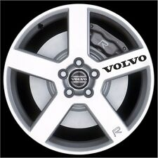 "4pcs VOLVO LOGO EMBLEM STICKER DECAL BLACK M1 5"" x 3/4"" - 12.7 x 1.6 cm"