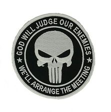 Punisher skull glow in the dark Embroidered Iron-On Patch marvel, army military