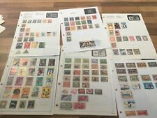 Guatemala Stamps vintage lot 6 leaves