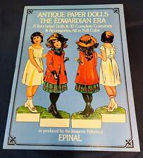 Antique Paper Dolls of the Edwardian Era 8 Dolls 32 Costumes 1975 - New Uncut!