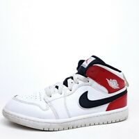 Nike Air Jordan 1 Retro Kids 3Y PS White Black Red 640734-116 Sneaker  Boy Girl
