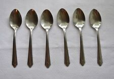 Ekco Stainless USA EKS19 Lot of 6 Oval Soup Spoons