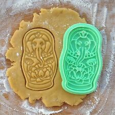 Elephant matryoshka cookie cutter. Nesting doll cookies. Ganesh cookies.