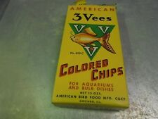 Vintage 3 Vees Colored Chips for Aquariums Empty Box