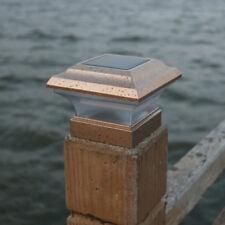 8Pcs 4X4 LED Garden Solar Plastic Copper Square Lamp Fence Lighting Deck Post US
