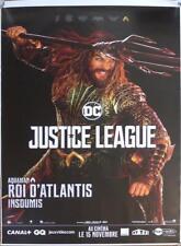 JUSTICE LEAGUE - AQUAMAN - DC COMICS - RARE CHARACTER BUS STOP MOVIE POSTER