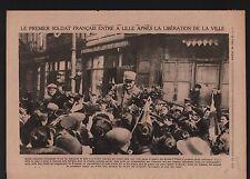 WWI Lille Poilus Costume Bleu-Horizon/Tommy sir Richard Haking 1918 ILLUSTRATION