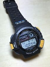 rare vintage casio CBX-500 Dual Chrono Tachy Meter Watch HTF Nos Japan