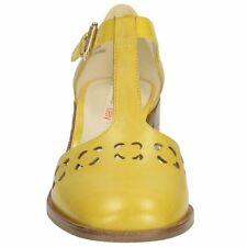 Taglia 7 US 9 Orla Kiely giallo in pelle BIBI Tacco Medio Scarpe Da Donna Regalo