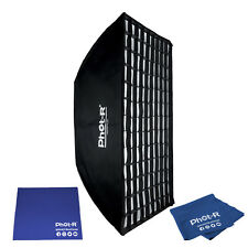 Phot-R 60x90cm Softbox Elinchrom Adapter Honeycomb Grid Microfibre Chamois Cloth