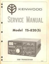 Kenwood TS-820(S) SSB Transceiver Original Service Manual w/ Schmatics