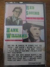 RED SOVINE SINGS HANK WILLIAMS, cassette tape, 1987