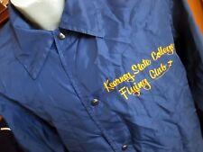 Large True Vtg 70's Spanjian Aviator Flight Club Navy Blue Windbreaker Jacket