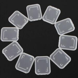 Standard SD SDHC Memory Card Case Holder Box Storage 10PCS New Stand Transparent